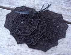 Spider Web Free Standing Lace Coasters