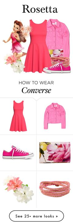 """""""Rosetta"""" by megan-vanwinkle on Polyvore featuring Ted Baker, Liz Claiborne, Chan Luu, H&M and Converse"""