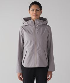 Transition into spring in this  waterproof jacket designed  with room to layer underneath.