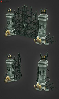 Low Poly Cemetery Gate Now that Christmas and new years is done, it's time to keep things moving! This has been way overdue for a whil...