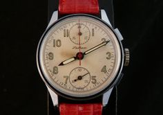 Vintage Venus 170 Latham column wheel hand wound chronograph mens watch