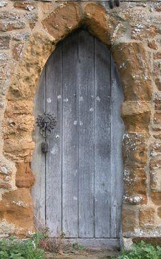 ancient church door, Everdon, England