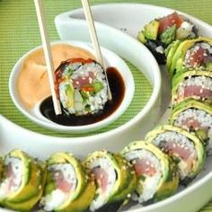 Avocado-Wrapped Sushi