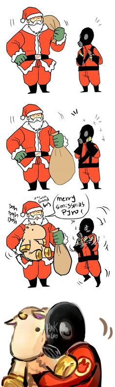 heavy klaus + pyro GIFT by Konniwa on DeviantArt Tf2 Funny, Funny Comics, Cartoon Games, Cute Cartoon, Tf2 Memes, Team Fortess 2, Gamer Humor, Star Wars Wallpaper, Amethysts