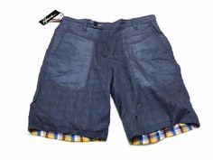 Howe 34 Men's Reversible Shorts Blue Multi-Color Check Switchstance NEW NWT #Howe #CasualShorts