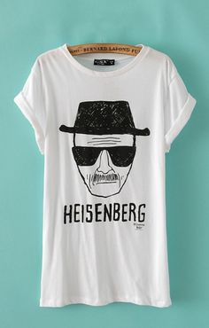 Loved...Loved...Loved the Breaking Bad Show so MUCH! I could watch it over and over and over again! Heisenberg Print Casual T-shirt #Breaking_Bad #Heisenberg #Tshirt