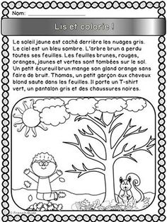 French resources for your French Immersion, Core French or Francophone class. French Verbs, French Grammar, French Teaching Resources, Teaching French, French Language Lessons, French Lessons, French Worksheets, French Colors, Core French