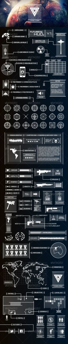 Futuristic HUD - Infographics