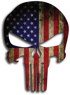 Pack of 3 Punisher Skull American Flag Subdued Distressed Grunge Vinyl Decal Stickers Car Truck Sniper Marines Army Navy Military Graphic x Frases Reggae, Punisher Skull American Flag, Punisher Logo, American Flag Decal, Vinyl For Cars, Skull Wallpaper, Eagle Wallpaper, Military Tattoos, Phone Backgrounds