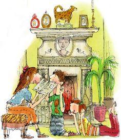 Pinzellades al món: Xiquets llegint: il·lustracions / Niños leyendo: ilustraciones / Children reading: illustrations -1