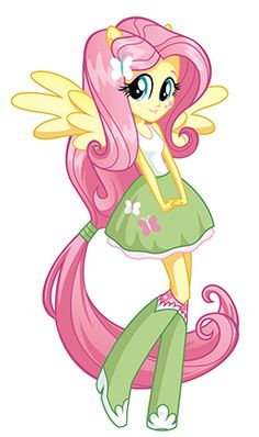 "The adorable Fluttershy, as seen in ""My Little Pony Equestria Girls"""