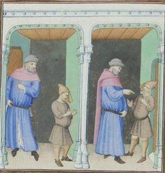 Publius Terencius Afer, Comoediae [comédies de Térence] ca. 1411;  Bibliothèque de l'Arsenal, Ms-664 réserve, 8v
