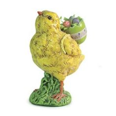 Sweet Delights Baby Chick Carrying Easter Eggs Spring Table Top Figure