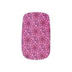 Pretty #Pink #Leopard Flower Kaleidoscope Nail Art Wraps #nailart  http://www.zazzle.com/sara_valor*
