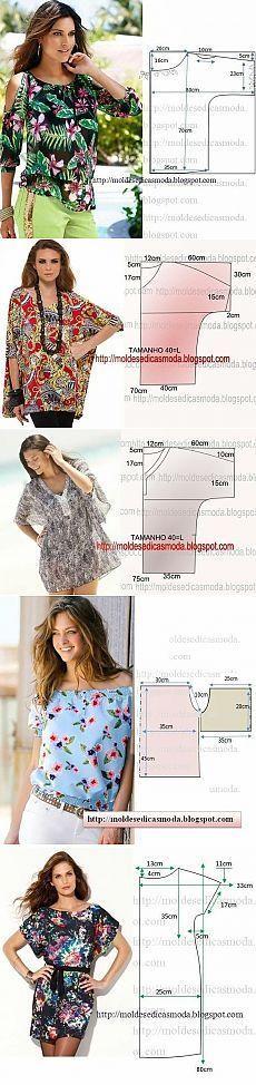 DIY Womens Clothing : Шьем летние блузоны туники.Идеи.Выкройки