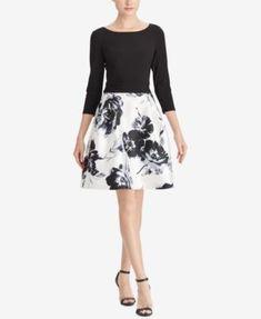 American Living Floral-Print Jacquard Dress | macys.com