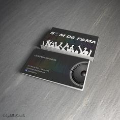 Modelo de cartão de visitas, tamanho 9x5 cm.  Elizabeth Lorente.