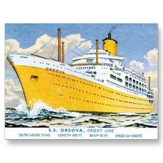 SS Orsova Orient Line Passenger Ship