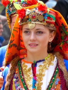 Bulgarian traditional costume ~ Kayla, we will definitely be shopping when we get there! :)