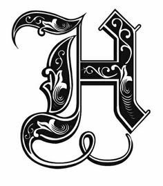 cursive letters fancy calligraphy letters monogram letters typography letters letter h design
