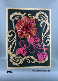 All occasion card with hand-made flower. by www.allaurdesigns.ca