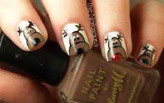 Christmas Inspired Nail Art Design