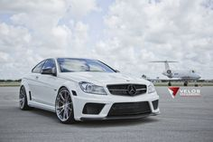 Mercedes C63 Black Series with Velos Tune And HRE Wheels