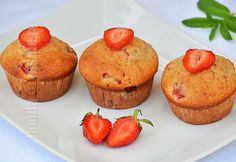 Cook N, No Cook Desserts, Muffins, Berries, Cooking Recipes, Cupcakes, Sugar, Breakfast, Food