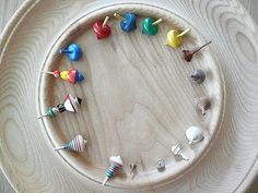 Tiny spinning tops collection