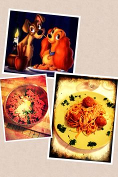 simply pasta with meatballs as lady and the Tramp, how can we forget them?