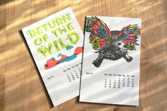 #WiLD, #Calendar, #psychedelic colors, #cool, #bright, #font, #art   Wedding Favors? Table cards? #wedding #mybigday