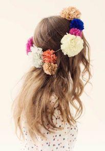 tissue paper flower crowns.