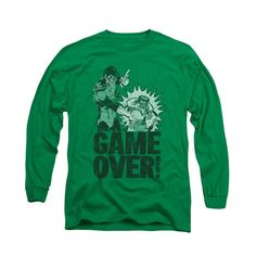 Green Lantern - Game Over Adult Long Sleeve T-Shirt