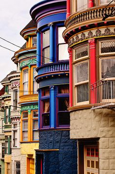 Upper Haight Victorians, San Francisco, CA