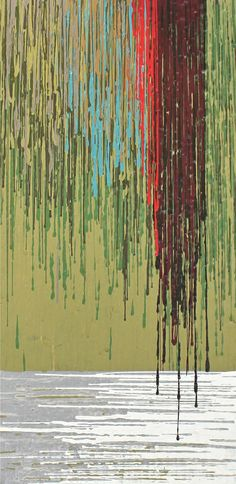 Abstract. Green Painting - Untitled by Kate Tesch