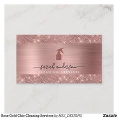 Cleaning Business Cards, House Cleaning Services, Cleaning Spray, Rose Gold Color, Business Supplies, Zazzle Invitations, Christmas Cards, Things To Come, Cards