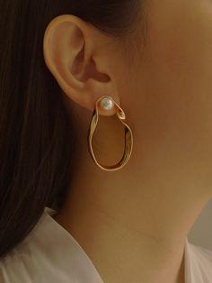 Gold Half Moon Earrings- geometric earrings/ gold half circle/ statement earrings/ half circle hoops/ half moon earrings/ minimalist/ modern in 2020 Moon Earrings, Statement Earrings, Silver Earrings, Pearl Earrings, Pearl Studs, Rose Necklace, Antique Jewelry, Silver Jewelry, Vintage Jewelry