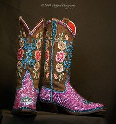 Jacqi Bling swarovski cowgirl boots
