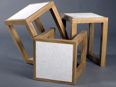 The design duo's stylish furnishings were crafted as part of the 380|tiles project that used ten thousand discarded computer keys from Apple laptops.