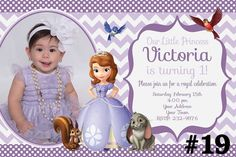 Princess Sofia Invite Sofia The First Birthday Invitation