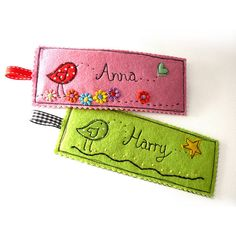 """How sweet are these personalized book marks?  These would make fabulous gift tags, stocking stuffers, or just little """"any time"""" gifts!  Love them!"""