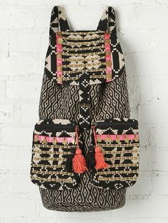 Shop Primrose Hill — Stela 9 | Shiva Backpack | black/white, pink ribbon