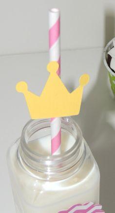 DIY Princess Crown Straws