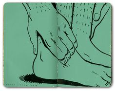 Bryce Wymer Feet  Green  Illustration  Journal