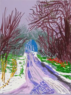 Faith is Torment | Art and Design Blog: The Arrival of Spring: iPad Drawings by David Hockney