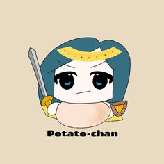 POTATO CHAN Avatar, Chibi, Potato, Pikachu, Fanart, Kawaii, Fictional Characters, Potatoes, Kawaii Cute