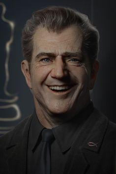 Mel Gibson CG portrait, Gerard Kravchuk on ArtStation at https://www.artstation.com/artwork/lXanG