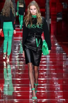 The Versace Leather Skirt Fall/Winter 2015-2016