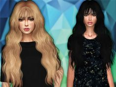 Mermaid hair retexture by Sharareh at TSR
