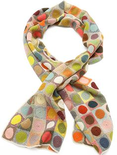 Sophie Digard Creme Glace Scarf in Multi